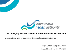 The Changing Face of Healthcare Authorities in