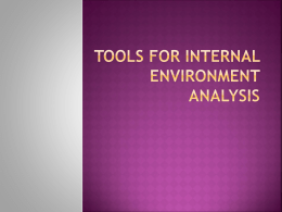 Tools for internal environment analysis