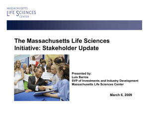 Overview of the Life Sciences Initiative FY 09-10