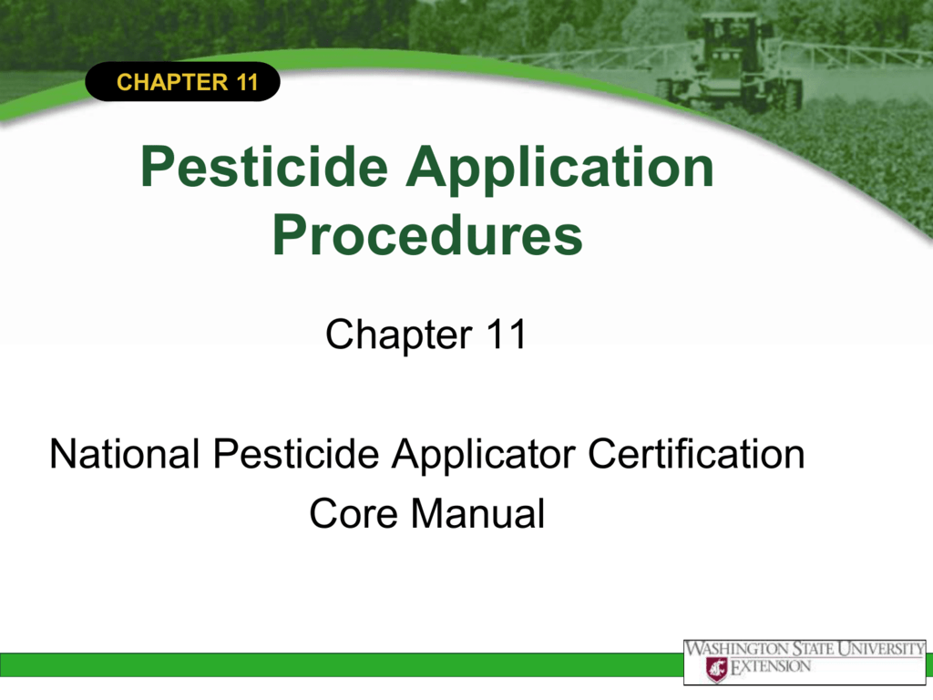 Chapter 11 pesticide application procedures 1betcityfo Gallery