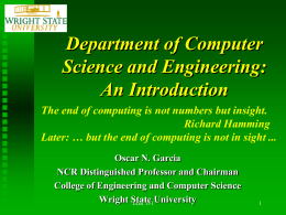An Introduction - College of Engineering and Computer Science