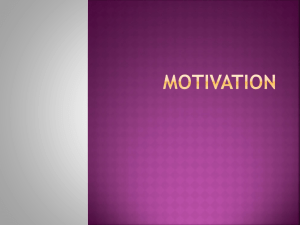 Motivation & other Study Skills