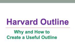 harvard outline template