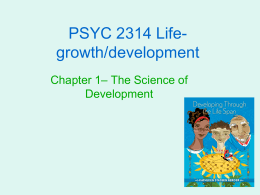 The science of human development…