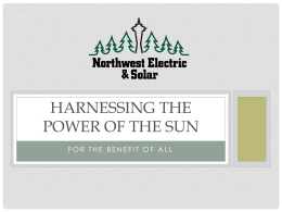 25% of total system cost - Northwest Electric and Solar
