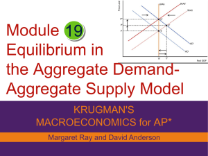 Module Equilibrium in the Aggregate Demand