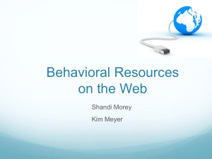Behavioral Websites Powerpoint