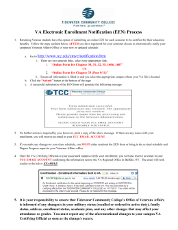 VA Electronic Enrollment Notification