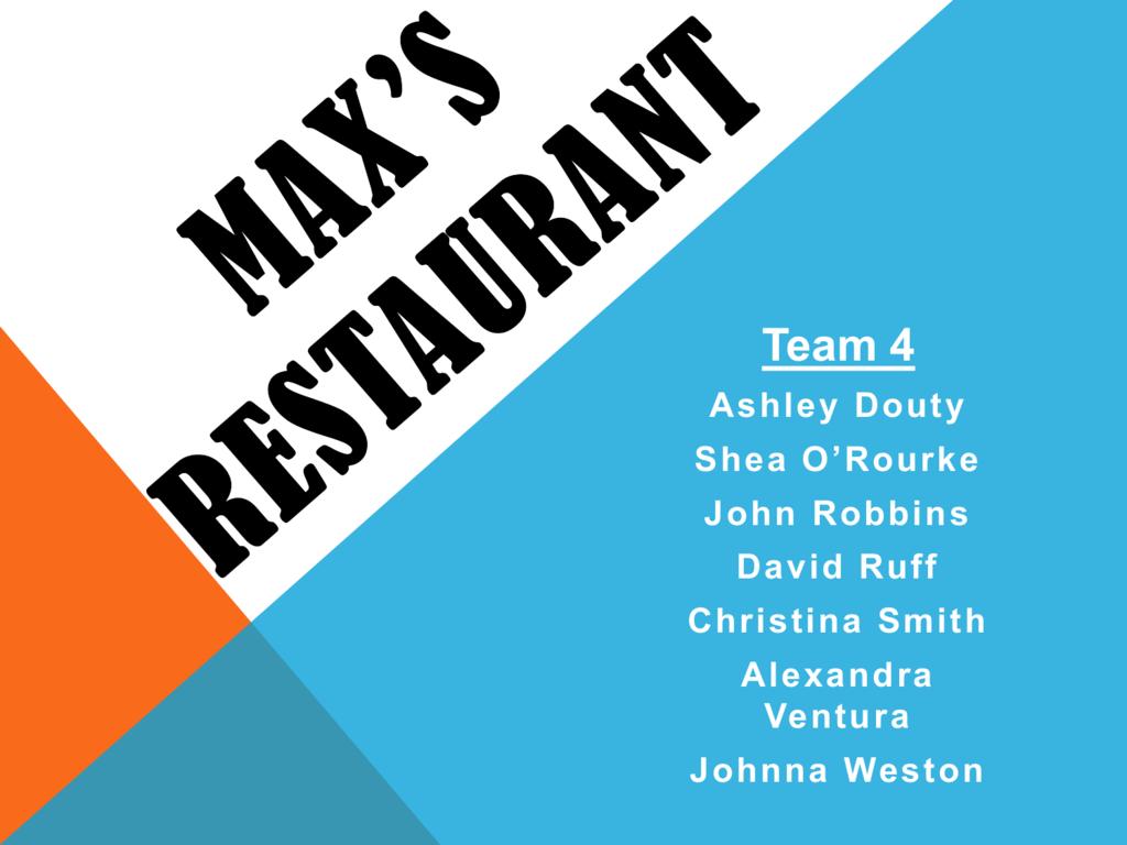 thesis maxs restaurant