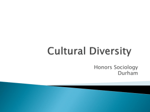 Cultural Diversity - Ms. Sims