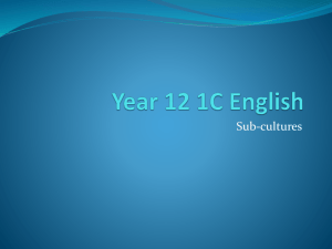 Year 12 1C English subculture