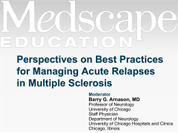 Perspectives on Best Practices for Managing Acute