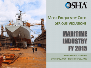 Most Frequently Cited Serious Violations in Maritime