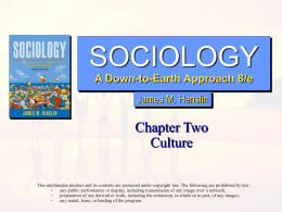 Sociology: A Down-to-Earth Approach, 8/e