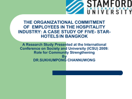 THE ORGANIZATIONAL COMMITMENT OF EMPLOYEES IN THE