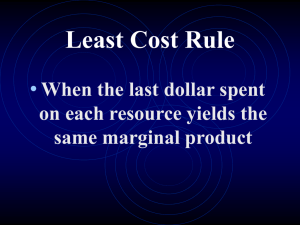 Least Cost Rule
