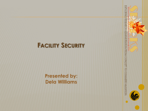 Facility Security Presented by - SPARKS: Sponsored Programs