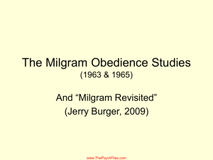 The Milgram Obedience Study