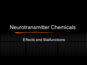 Related Doents Neurotransmitter Chemicals
