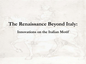 The Renaissance Beyond Italy: