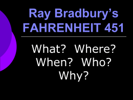 fahrenheit 451 - Beavercreek City School District