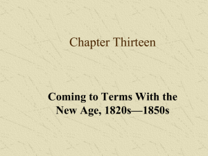 Lecture 13, Coming to Terms with the New Age