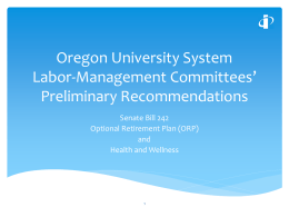 Oregon University System Labor