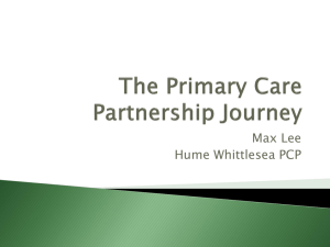 The Primary Care Partnership Journey