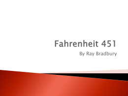 an analysis of the city in theory in fahrenheit 451 by ray bradbury Dive deep into ray bradbury's fahrenheit 451 with extended analysis,  commentary, and  city unnamed urban center in which the protagonist, guy  montag, lives and works in this  applies reader-response theories to  bradbury's works.