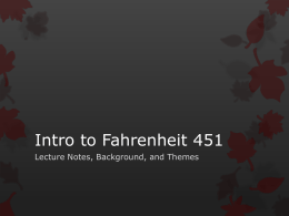 Fahrenheit 451 Introductory PPT