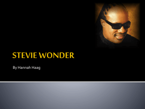 STEVIE WONDER powerpoint