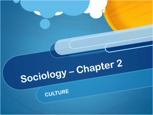 Sociology * Chapter 2