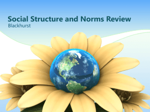 Social Structure and Norms Review