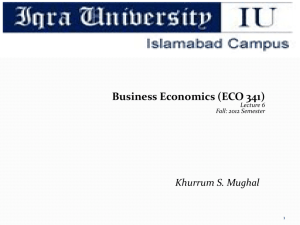 Business Economics Lecture 6
