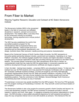 From Fiber to Market - University of North Carolina