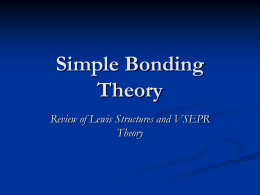 Simple Bonding Theory