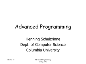 Advanced Programming - Columbia University