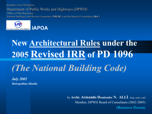 HR Architectural Rules Under the 2005 Revised IRR of the NBC