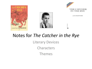 Notes for The Catcher in the Rye