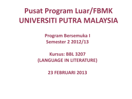 BBI 3207 Language in Literature
