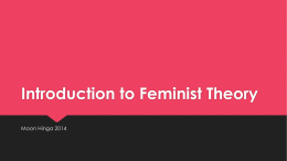 Introduction to Feminist Theory
