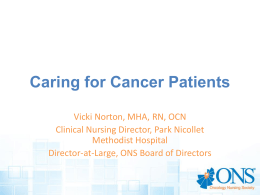 Caring for Cancer Patients - National Student Nurses Association
