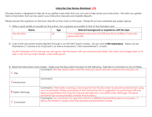Instruction Peer Review Sheet