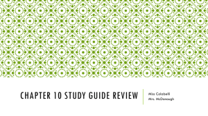 Chapter 10 Study Guide Review