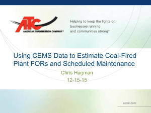 Using CEMS Data to Estimate Coal