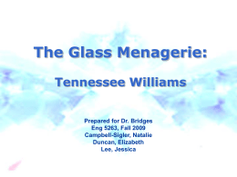 a book report on the glass menagerie by tennessee willliams He was tennessee williams 2010 538 views buy the glass menagerie by tennessee williams a book report on the glass menagerie by tennessee williams (isbn: ) from.