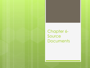 Chapter 6- Source Documents