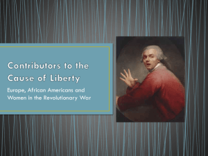 Contributors to the Cause of Liberty