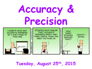 Accuracy & Precision (8/25) - Liberty Union High School District