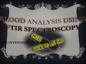 Blood Analysis using ftir spectroscopy
